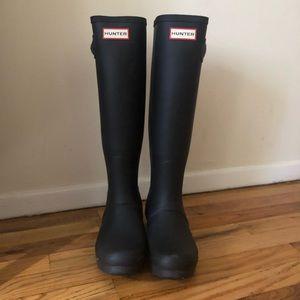 Hunter Tall Rainboots (black)